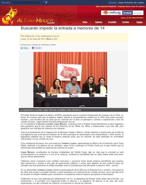BUSCARÁN IMPEDIR ENTRADA A MENORES DE 14_22.06.2015