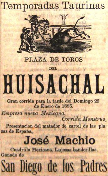 CARTEL_25.01.1885_EL HUISACHAL_JOSÉ MACHÍO