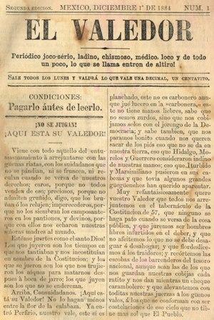 EL VALEDOR_01.12.1884_PORTADA