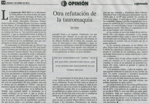 ILÁN SEMO_OTRA REFUTACIÓN DE LA TAUROMAQUIA