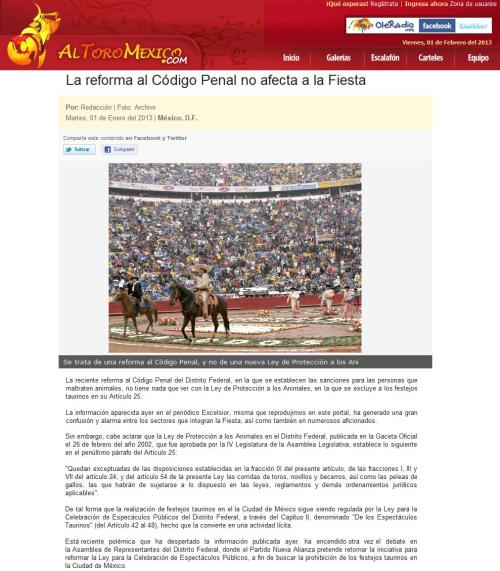 LA REFORMA AL CÓDIGO PENAL..._ELTOROMÉXICO.COM_01.02.2013