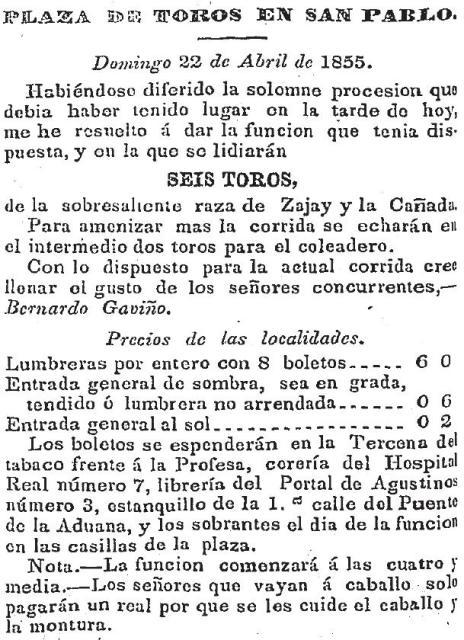 CARTEL_22.04.1855_SAN PABLO_BGyR_ZAJAY y LA CAÑADA