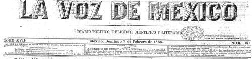 LA VOZ DE MÉXICO_07.02.1886