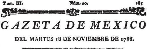 GAZETA DE MÉXICO_18.11.1788