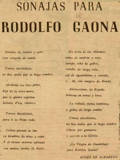 SONAJAS PARA RODOLFO GAONA_EL RUEDO_N° 171_02.10.1947_p. 9a