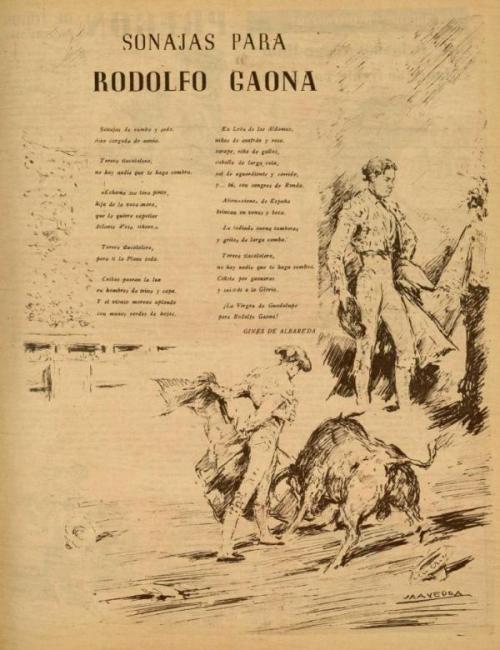 SONAJAS PARA RODOLFO GAONA_EL RUEDO_N°171_02.10.1947_p. 9