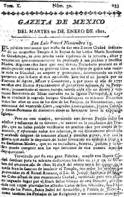 GAZETA DE MÉXICO_20.01.1801_p. 1