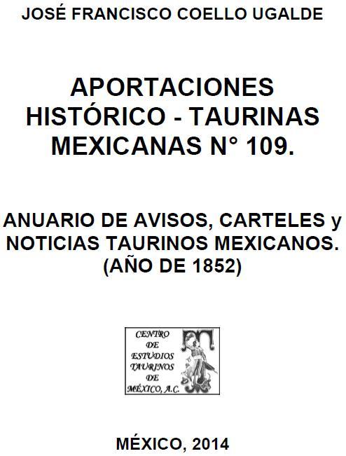 PORTADA ANUARIO 1852