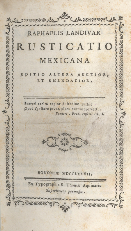 RUSTICATIO MEXICANA