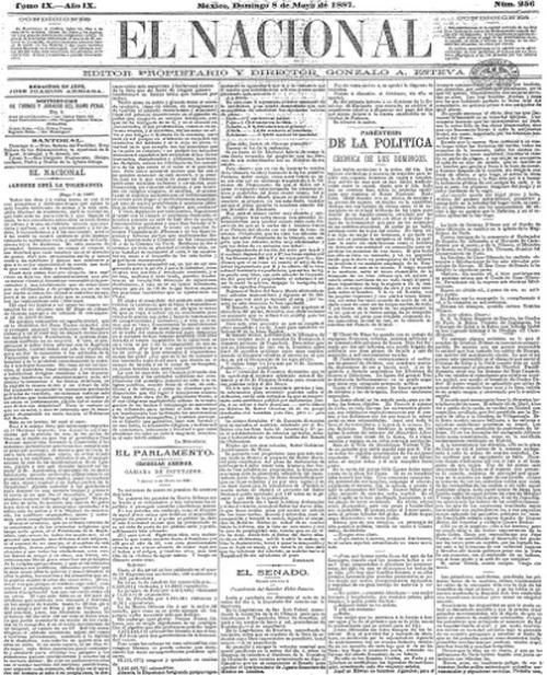 EL NACIONAL_EJEMPLAR DE MAYO DE 1887