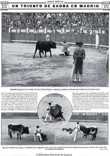 MUNDO GRÁFICO_08.07.1914_ACTUACIÓN GAONA EN MADRID1
