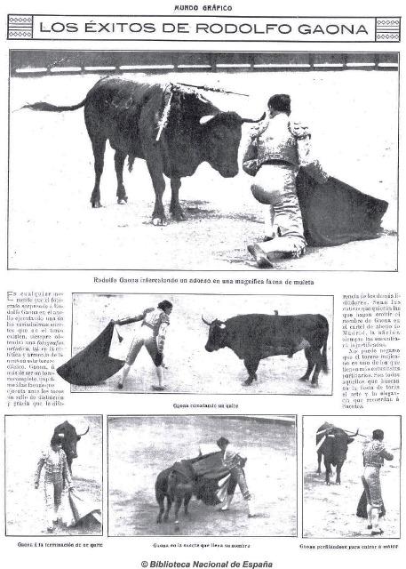 MUNDO GRÁFICO_22.09.1915_ACTUACIÓN GAONA EN MADRID