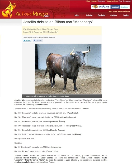 JOSELITO y MANCHEGO EN BILBAO_18.08.2014