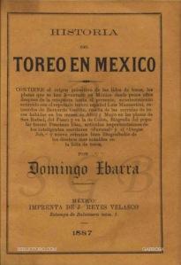 DOMINGO IBARRA_HISTORIA DEL TOREO EN MÉXICO_PORTADA