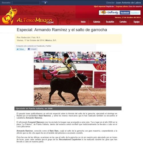 ARMANDO RAMÍREZ y EL SALTO CON LA GARROCHA_17.10.2014