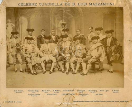 CÉLEBRE CUADRILLA_L. MAZZANTINI_Ca. 1887