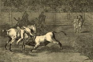 Francisco-de-Goya-Mariano-Ceballos-alias-el-Indio-mata-el-toro-desde-su-caballo