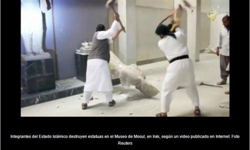 DESTRUCCIÓN DE ESTATUAS EN EL MUSEO DE MOSUL_26.02.2015