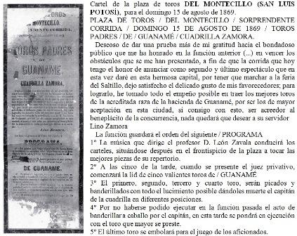 CARTEL_P. de T. MONTECILLO_15.08.1869_LINO ZAMORA