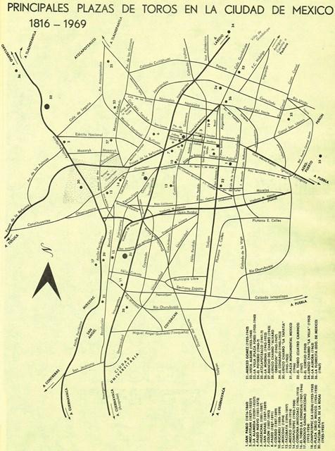 PLAZAS DE TOROS CD. MÉXICO_1816-1969