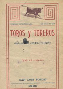 TOROS y TOREROS_S.L.P._1909_PORTADA