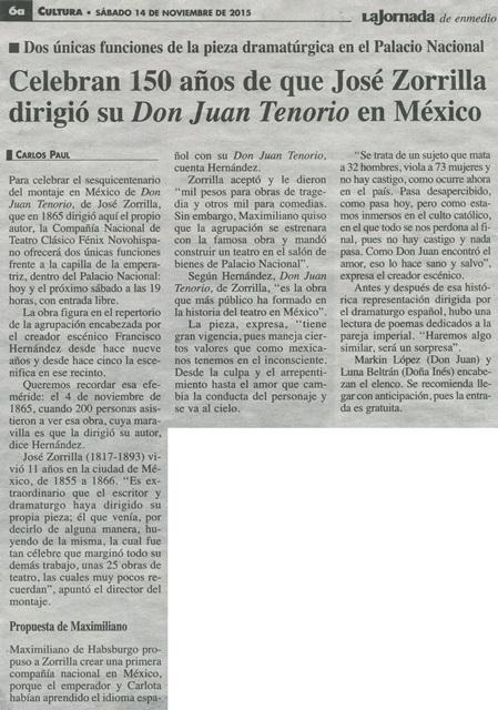 150 AÑOS JUAN TENORIO...