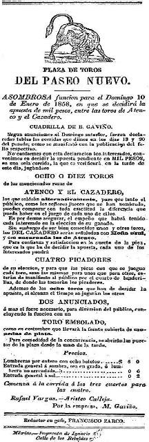 CARTEL_10.01.1858_PASEO NUEVO_BGyR_ATENCO y EL CAZADERO