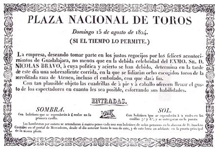 CARTEL_PLAZA NACIONAL DE TOROS_15.08.1824