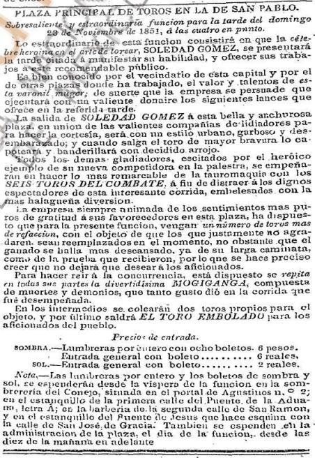 CARTEL_23.11.1851_SAN PABLO_SOLEDAD GÓMEZ_SIN DATOS