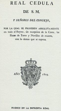 REAL CÉDULA 1805