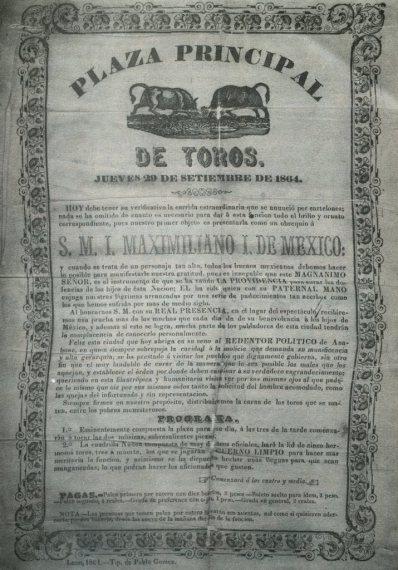 CARTEL_LEÓN_GTO_29.09.1864_CUADRILLA NÚÑEZ